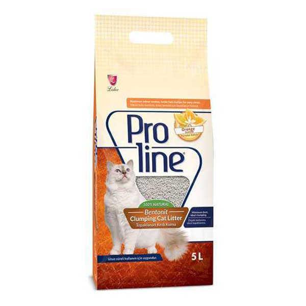 Proline Portakal Kokulu Topaklanan Kedi Kumu 5 LT