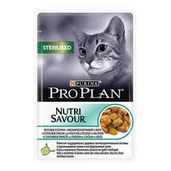 ProPlan - ProPlan Nutri Savour Kısır Kedi Balıklı Yaş Mama 85 GR