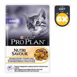 ProPlan - Proplan Nutri Savour Yavru Kedi Yaş Mama 85 GR*6 Lı Paket