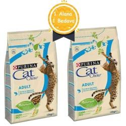 Purina - Purina Cat Chow Adult Tuna ve Somon Balıklı Kedi Maması 1.5 KG + 1.5 KG