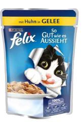 Felix - Purina Felix Konserve Yaş Pouch Tavuklu Yetişkin Kedi Maması 100 GR