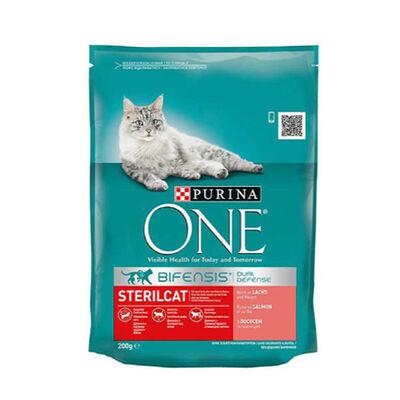 Purina One Somonlu Kısırlaştırılmış Kedi Maması 200 GR