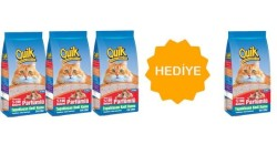 Quik - Quik Bentonit Kalın Taneli Kokulu Topaklanan Kum 5 Lt 4'lü Paket