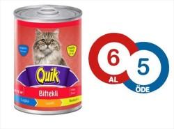 Quik - Quik Biftekli Kedi Konservesi 415 GR ( 6 AL 5 ÖDE )