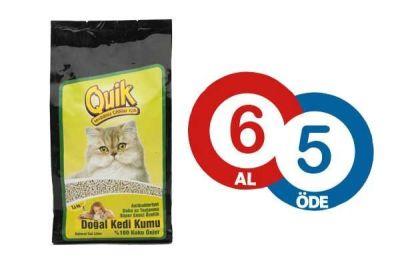 Quik Çam Kedi Kumu 1.5 KG ( 6 AL 5 ÖDE )