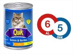 Quik - Quik Somon ve Karidesli Kedi Konservesi 415 GR (6 AL 5 ÖDE)