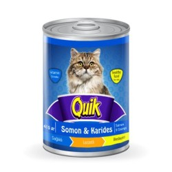 Quik - Quik Somon ve Karidesli Kedi Konservesi 415 GR
