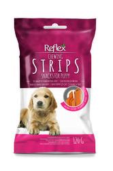 Reflex - Reflex Chewıng Strıps Biftekli Yavru Köpek Köpek Ödülü 120 Gr