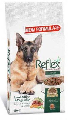 Reflex Kuzulu Etli ve Sebzeli Köpek Maması 15 KG