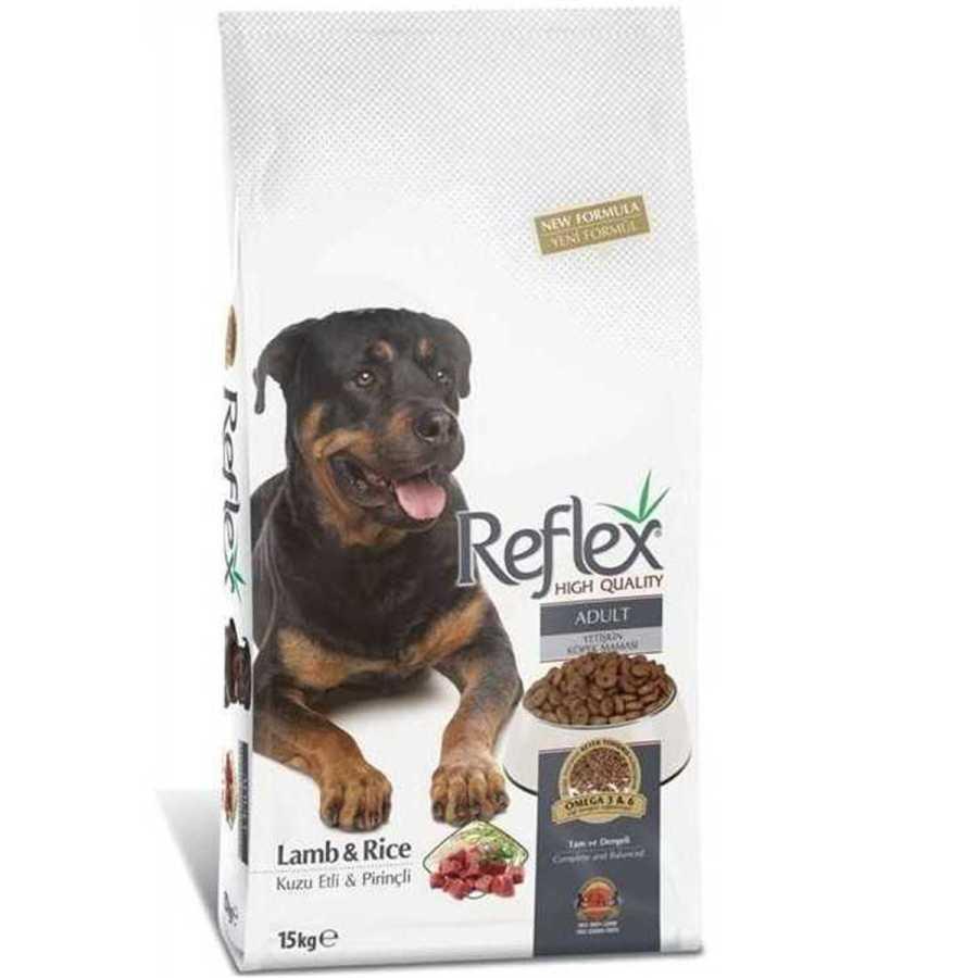 Reflex Kuzulu Pirinçli Köpek Maması 15 KG