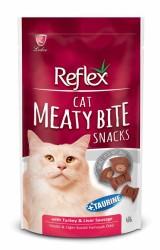 Reflex - Reflex Meaty Bite Kedi İçin Ördek ve Peynirli Etli Parçacıklar 40 gr