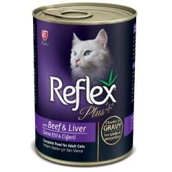 Reflex - Reflex Plus Biftek ve Ciğerli Kedi Konservesi 400 GR