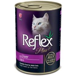 Reflex - Reflex Plus Ciğerli Kedi Konserve Jöle İçinde Et Parçacıklı 400 GR