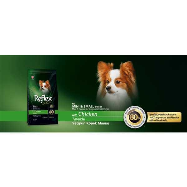 Reflex Plus Küçük Irk Tavuklu Köpek Maması 3 KG