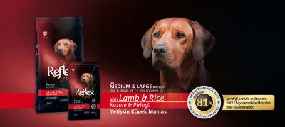Reflex Plus Kuzulu & Pirinçli Yaşlı Köpek Maması 15 KG