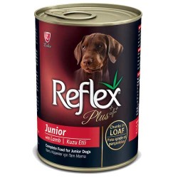 Reflex - Reflex Plus Kuzulu Yavru Köpek Konserve Pate İçinde Et Parçacıklı 400 GR