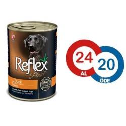 Reflex - Reflex Plus Ördekli Köpek Konserve Sos İçinde Et Parçacıklı 400 GR (24 Al 20 Öde)