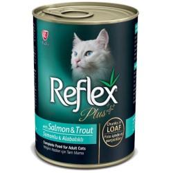 Reflex - Reflex Plus Somon ve Alabalıklı Kedi Konserve Et Parçacıklı 400 GR