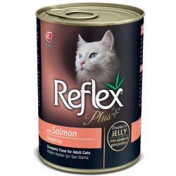 Reflex - Reflex Plus Somonlu Kedi Konserve Jöle İçinde Et Parçacıklı 400 GR
