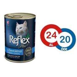 Reflex - Reflex Plus Tuna ve Somonlu Kedi Konserve Sos İçinde Et Parçacıklı 400 GR (24 Al 20 Öde)