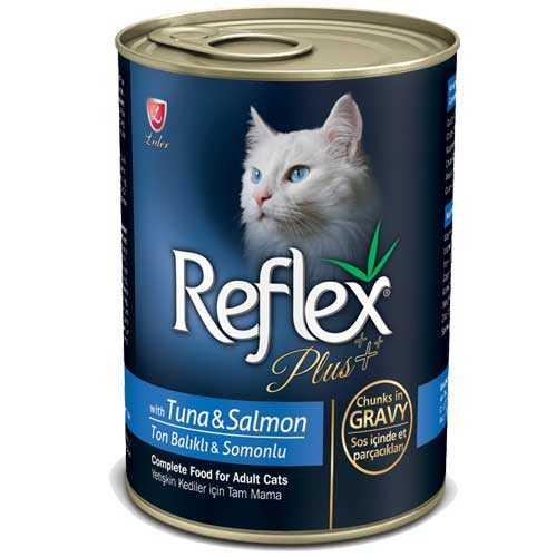 Reflex Plus Tuna ve Somonlu Kedi Konservesi 400 GR