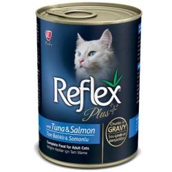 Reflex Plus Tuna ve Somonlu Kedi Konservesi 400 GR - Thumbnail