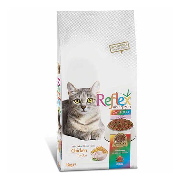 Reflex Renkli Taneli Tavuklu Kedi Maması 15 KG