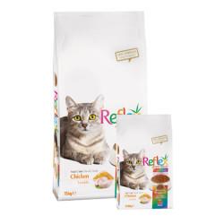 Reflex Renkli Taneli Tavuklu Kedi Maması 15 KG - Thumbnail