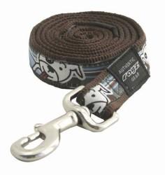 Rogz - Rogz Ekose Desenli Köpek Gezdirme Tasması 1.8 Mt * 1.2 Cm (HL01-BF) Kahverengi