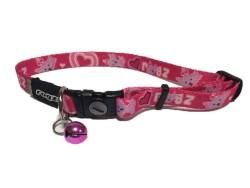 Rogz - Rogz Pink Hearts Klipsli Kedi-Köpek Boyun Tasması (20cm-31cm)