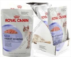 Royal Canin - Royal Canin Digest Sensitive Pouch Kedi Konservesi 85 GR (12 Adet)