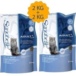 Sanabelle - Sanabelle Tahılsız Balıklı Kedi Maması 2 KG + 2 KG