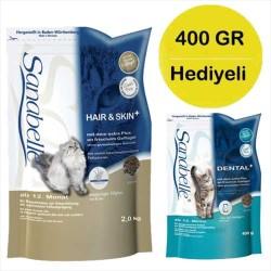 Sanabelle - Sanabelle Uzun Tüylü Kediler İçin Tahılsız Kedi Maması 2KG + 400 GR HEDİYE