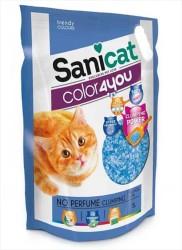 Sanicat - Sanicat Parfümsüz Silika Kedi Kumu 5 Litre - Mavi