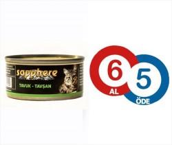 Sapphere - Sapphere Tavuklu Tavşanlı Kedi Konservesi 80 Gr (6 Al 5 Öde)