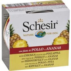 Schesir - Schesir Tavuk ve Ananaslı Köpek Konservesi 150 GR
