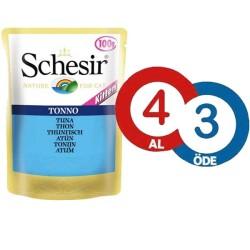 Schesir - Schesir Jelly Ton Balıklı Yaş Yavru Kedi Maması 100 Gr * 4 Adet