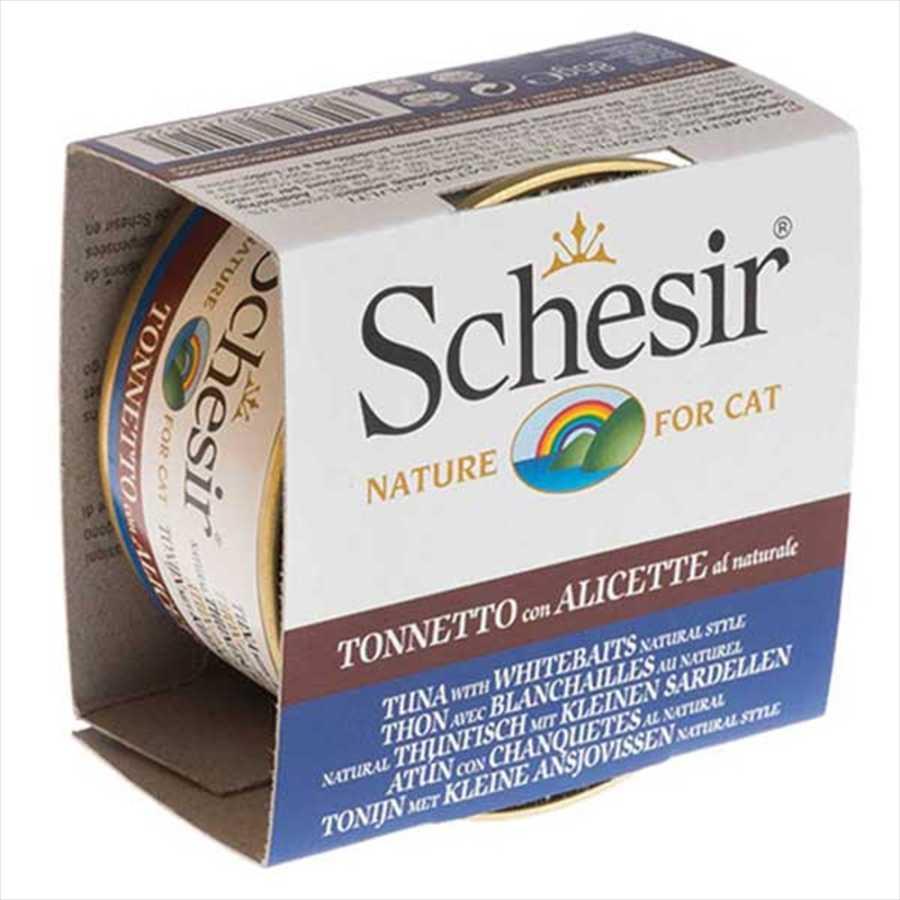 Schesir Ton, Ringa Balıklı Ve Pirinçli Yaş Kedi Maması 85 GR