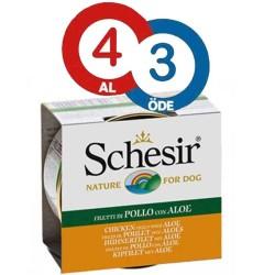 Schesir - Schesir Ton Balığı Ve Aleoveralı Yavru Yaş Köpek Maması 150 GR * 4 Adet