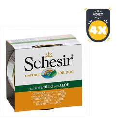 Schesir - Schesir Ton Balığı Ve Aleoveralı Yaş Köpek Maması 150 GR * 4 Adet