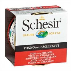Schesir - Schesir Ton Balığı ve Karidesli Yaş Kedi Maması 85 GR