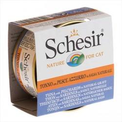 Schesir - Schesir Ton Balığı ve Sardalyalı Yaş Kedi Maması 70 GR