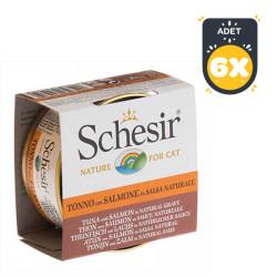 Schesir - Schesir Ton Balığı ve Somonlu Soslu Yaş Kedi Maması 70 GR *6 Adet