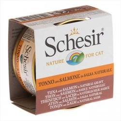 Schesir - Schesir Ton Balığı ve Somonlu Soslu Yaş Kedi Maması 70 GR