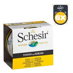 Schesir - Schesir Ton Balığı Ve Surimili Yaş Kedi Maması 85 GR * 6 Adet