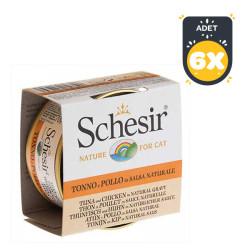 Schesir - Schesir Ton Balığı ve Tavuklu Soslu Yaş Kedi Maması 70 GR * 6 Adet