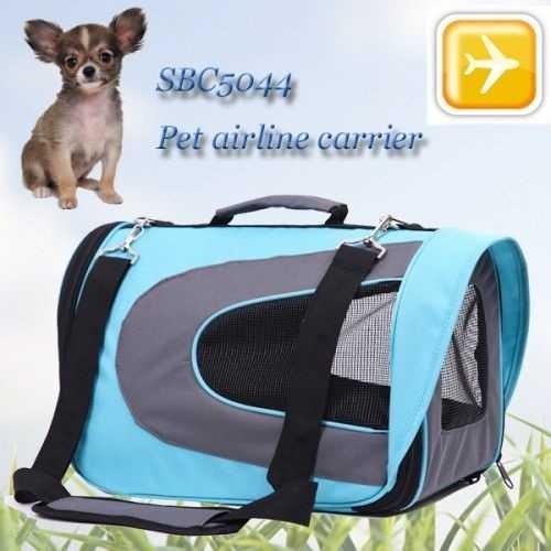 Senful Kedi ve Köpek Uçak Taşıma Çantası ( 46*26*27 Gök Mavi )