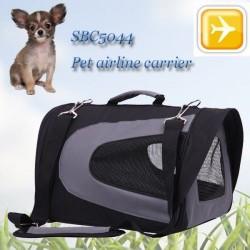 Senful - Senful Kedi ve Köpek Uçak Taşıma Çantası (Siyah ) (59*29,5*29,5)