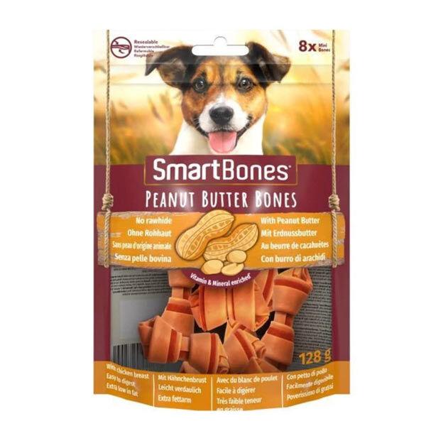 SmartBones Tavuklu ve Fıstık Ezmeli Mini Köpek Ödül Kemiği 8 Adet 128 Gr