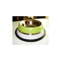 StefanPlast - Stefanplast Yeşil Beyaz İki Renkli Çelik Mama Ve Su Kabı
